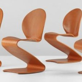 Verner Panton - Bent Plywood Chairs