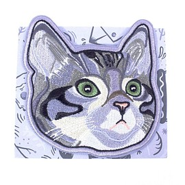 Broad & Jones - Stay Home Club Cat Curiosity Iron-On Patch