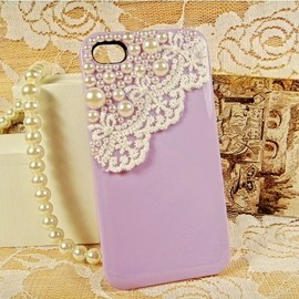 alanatt - Lace with Pearl iPhone 4 / 4S Case