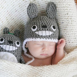 トトロ - Crochet Totoro Hat (Newborn) Made To Order