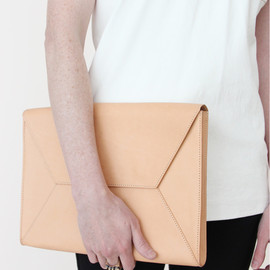 YUE - Envelope Clutch - Natural Raw