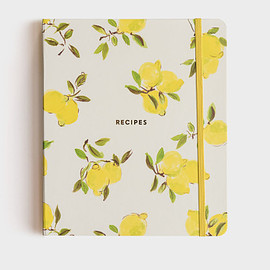 kate spade NEW YORK - Kate Spade - Recipe Book Journal - 20x23.5cm Lemon