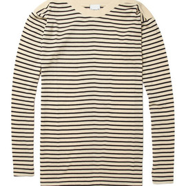 S.N.S. HerningNaval Striped Wool Hand-Knitted Sweater