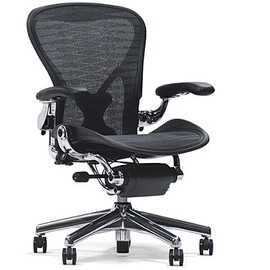 Herman Miller - Aeron Chair (Polished Aluminum Base)