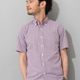 green label relaxing - OX G/CLUB CHK BD-R S/S シャツ