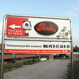Finland - The Panda Finnish candy factory outlet store in Jyv&aumlskylä