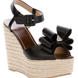 VALENTINO - Bow detail wedge sandal
