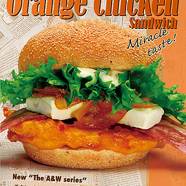 THE A&Wオレンジチキンサンド The A&W Orange Chicken Sndwich - オレンジチキンサンドウィッチ