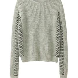 3.1 Phillip Lim - 3.1 Phillip Lim/CROPPED MIXED STITCH PULLOVER Lime