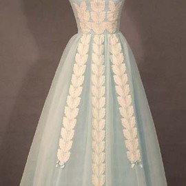1960s blue chiffon dress