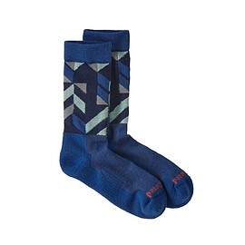 patagonia - Lightweight Merino Performance Crew Socks, Fast Quilt Stitch: Superior Blue (FQSB)