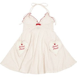 Katie - SWEET DATE baby doll one-piece OFF WHITE