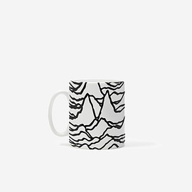 GOODHOOD, JOY DIVISION, Peter Saville - 'UNKNOWN PLEASURES' MUG