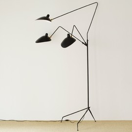 IDEE - Lampadaire 3 Lumiere by Serge Mouille