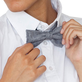 American Apparel - bow tie / Black Chambray