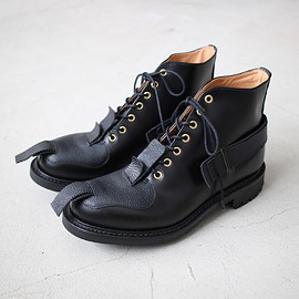 JOHN MOORE - TOE PATCH AND STRAP BOOTS #black