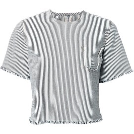 T By Alexander Wang - striped boxy top