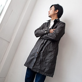 Manual Alphabet - Manual Alphabet / Typewriter shirt coat : grey