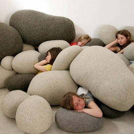 pillows look like hard stones