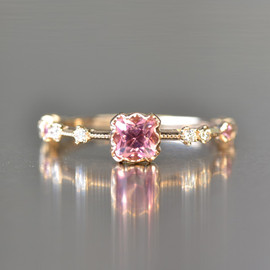 kataoka - ka0085aa k18 gold tourmaline diamond ring
