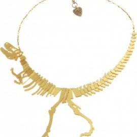 tatty devine - Dinosaur Necklace - gold