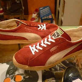 "PUMA - 「<used>70's PUMA CLYDE scarlet/white""made in YUGOSLAVIA"" size:UK8/h(27-27.5cm) 22800yen」完売"