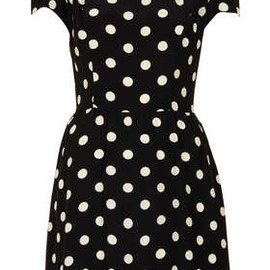 TOPSHOP - Polka Dot Flippy Dress