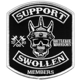 swollen members - support swollen embroidered patch