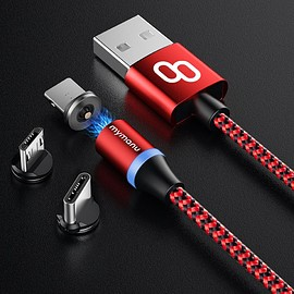 Mymanu - 3 in 1 magnetic charging cable