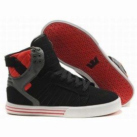 supra skytop high tops black red white skate men shoes