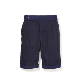 White Mountaineering - POLYESTER RAYON RING CHECK JACQUARD 2-TUCK SHORTS
