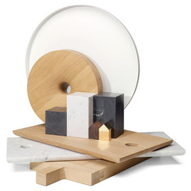 E15 - wood and marble home accessory collection