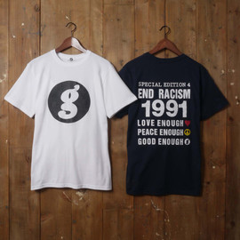 GOODENOUGH - END RACISM TEE (white/black)