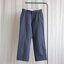 YAECA - Chino Cloth Pants - wide #navy