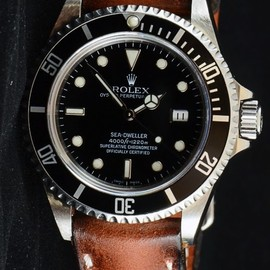 ROLEX - Sea Dweller on a leather strap