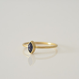 Gabriella Kiss - Small Marquise Dark Blue Sapphire Ring