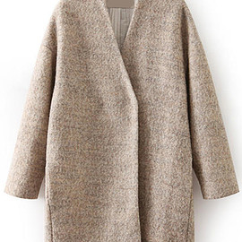 Romwe - Pockets Classic Long Coat