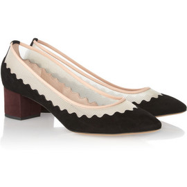 Chloe Variance suede and mesh pumps - Chloé