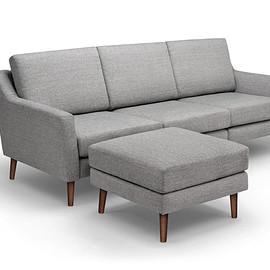 Burrow - Sofa in Crushed Gravel with Ottoman
