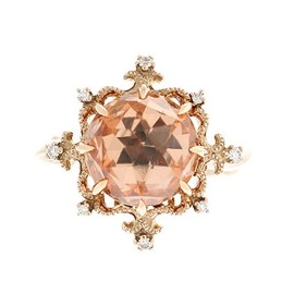 AbHeri - Morganite Diamond Ring