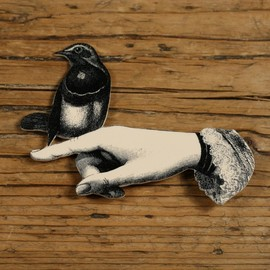 mama's little babies - Bird in Hand Brooch