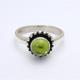 Georg Jensen - MOONLIGHT ring - sterling silver with peridot