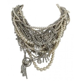 Tom Binns - LARGE TANGLED CRYSTAL AND PEARL NECKLACE