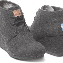 TOMS - Grey Wool Women's Desert Wedges
