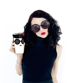 Alice + Olivia, Starbucks - Double Wall Traveler Mug - Stace Face