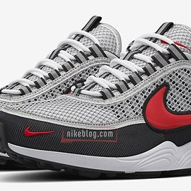 NIKE - Air Zoom Spiridon 16 - Light Grey/Metallic Red/Anthracite/White?