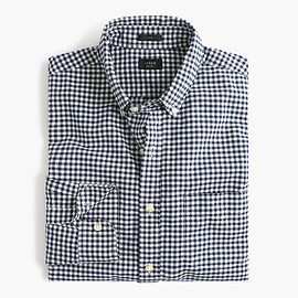J.CREW - SLIM VINTAGE OXFORD SHIRT IN AEGEAN SEA CHECK