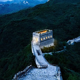 Yanqing, Beijing, China - NIGHT AT THE GREAT WALL
