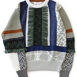 TOGA PULLA - Mix Jacquard Knit Pullover (grey)