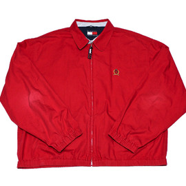 TOMMY HILFIGER - Vintage Red Tommy Hilfiger Jacket Mens Size XL